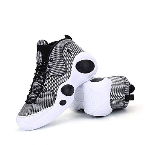 Uomo Scarpe sportive Il nuovo Formazione Scarpe da pallacanestro Antiscivolo traspirante Scarpe da ginnastica Scarpe da corsa Black