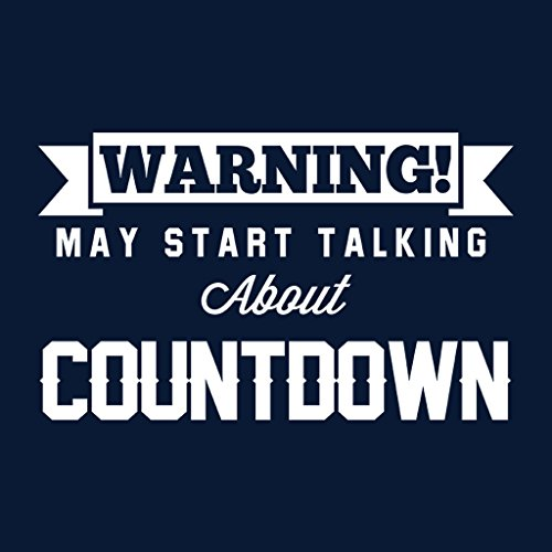 Warning May Start Talking About Countdown Women's Sweatshirt Navy blue