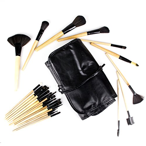 24 Stück Profi Pinselset Schminkpinsel Makeup Bürsten Set für Kosmetiker