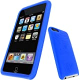 iGadgitz Silicone Skin Case Cover with Screen Protector for Apple iPod Touch 2G/3G - Blue