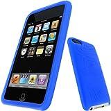 igadgitz U0299 Silikon Hülle Etui Case Schutzhülle Tasche für Apple iPod Touch 2. & 3. Generation mit Schutzfolie - Blau