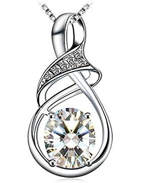 Kette Damen, J.Rosée, 925er Sterling Silber 5A Zirkonia Schmuck Halskette Anhänger