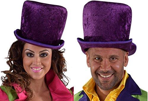 M216305 lila Damen-Herren Hut Zylinder Steampunk Halloween