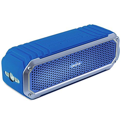 Altavoz Bluetooth Estéreo 10W Premium Dual-Drivers, con Radiador Pasivo, COMISO Altavoz Portatíl Inalámbrico 15 horas para HuaWei, XiaoMi, Samsung, Nexus, HTC, iPhone y iPad - (Azul Marino)
