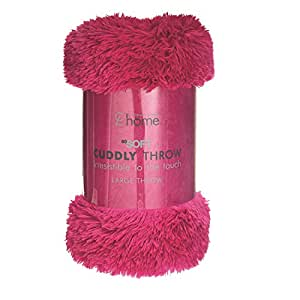 Catherine Lansfield Cuddly Throw - Hot Pink