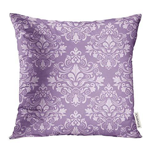 Dekokissenbezug Purple Vintage Damask Flower Royal Baby Abstract Decorative Pillow Case Home Decor Square 18x18 Inches Pillowcase (Werfen Eines Baby-halloween-party)