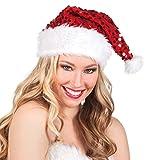 Boland 13404 Cappello Babbo Natale Glitter, Rosso/Bianco, Taglia Unica