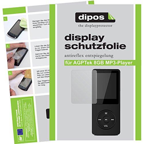 dipos I 6X Schutzfolie matt passend für AGPTek 8GB MP3-Player Folie Displayschutzfolie
