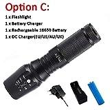 RAISSER® 10000 Lumens LED Flashlights X800 Zoomable Outdoor Flashlight Torch