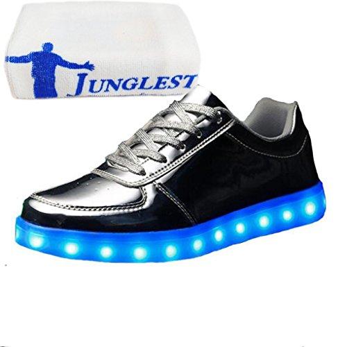 [Presente:piccolo asciugamano]JUNGLEST® 11 colori led luminoso-Scarpe da ginnastica Unisex, in stile Casual, per scarpe-Coppia di luci led, c27