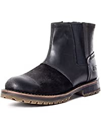 Caterpillar Staten Mens Leather & Suede Ankle Boots Black - 45 EU