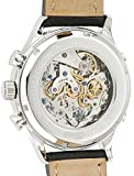 Ingersoll unisex Mechanical Watch with White Dial Chronograph Display and Black Leather Strap IN1227SCR