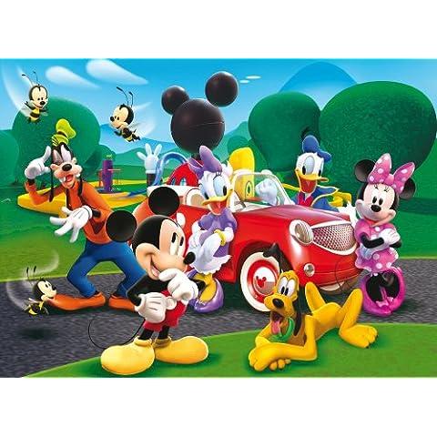 Clementoni Puzzle 23576 - a Casa di Topolino: Ride with the new car -  Maxi 104 pezzi