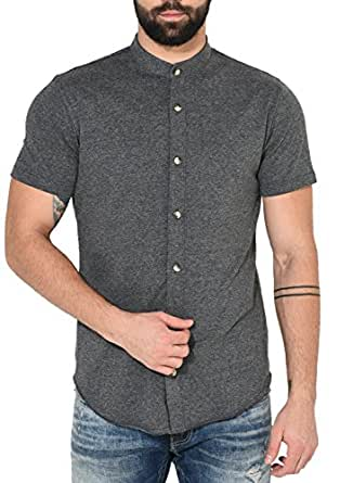 0184607d GRITSTONES Men's Cotton Half Sleeve Shirt: Amazon.in: Clothing ...