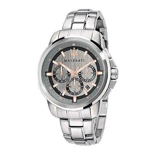 MASERATI Orologio Cronografo Quarzo Uomo con Cinturino in Acciaio Inox R8873621004