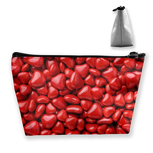 Valentine's Day Red Heart Mehrzweckstift Bleistift Taschen Zubehör Tasche Make-up Tragetasche -