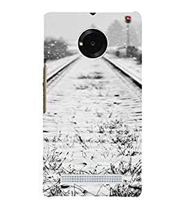 PrintVisa Travel Tracks Snow Design 3D Hard Polycarbonate Designer Back Case Cover for Yu Yunique