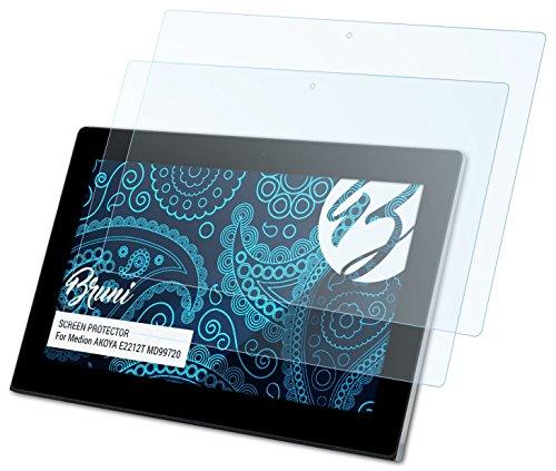 Preisvergleich Produktbild 2 x Bruni Schutzfolie Medion AKOYA E2212T (MD99720) Folie