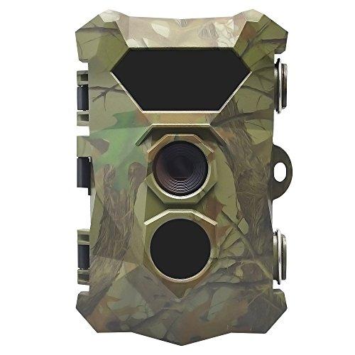 Lin-Tong 16MP 1080P HD Tracker Wildkamera Fotofalle, Jagdkamera Nachtsicht, IP66 Wasserdicht 0,4 Sekunden Auslösezeit, 2.4 Inch LCD Display Tierkamera 70 Grad Weitwinkel für Tieren