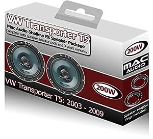 VW Transporter T5 Mac Audio-Haut-Parleurs DE PORTIERE AVANT-kit d'adaptateurs pour haut-Parleur 200 W