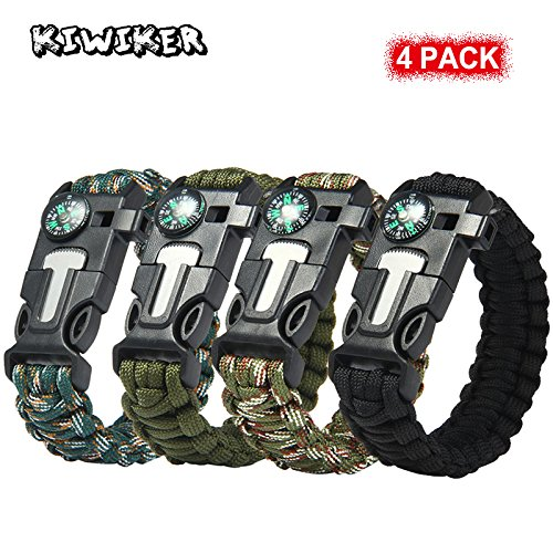 [4 Pack ] Paracord Braccialetto - Kiwiker Survival...