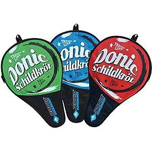 Donic-Schildkröt Tischtennis Schlägerhülle Classic, Schlägerhülle für einen Schläger, extra Ballfach für 3 Bälle, klassisches Design, 818508