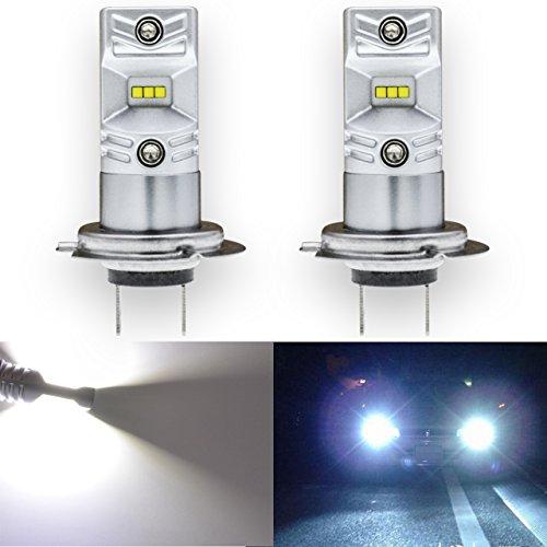 TUINCYN 1600Lm - Ampoules antibrouillard à LED extrêmement lumineuses, remplacement de 6500K, blanc, puissance élevée, 80W CSP Puces DRL Daylight LED ampoule à courant alternatif 12V-24V (Paquet de 2)