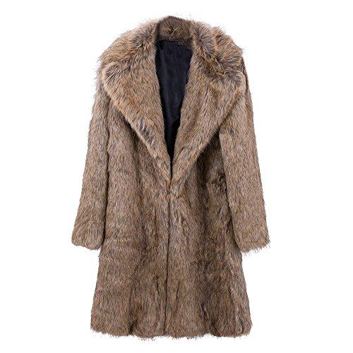 Herren Leopard Pelzmantel Winter Outwear Dicken Mantel Männer Casual Parka Jacken Lange Leder Warme Mäntel Echtem Pelz Marke Kleidung Kunstpelzmäntel Herrenbekleidung & Zubehör