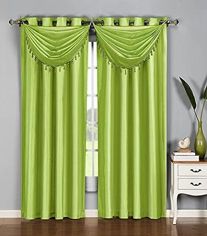 Window Elements Jane Faux Silk 36 x 37 in. Grommet