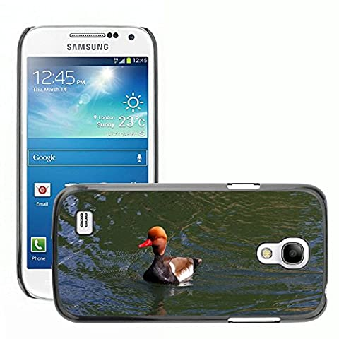 Just Phone Cover Hard plastica indietro Case Custodie Cover pelle protettiva Per // M00139732 Pochard Red Headed Pochard Canard // Samsung Galaxy S4 Mini i9190