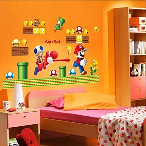 WUDHF Schöne Super Mario Vinyl Abnehmbare Wandaufkleber Aufkleber Home Dekore Riesen Bros Kinder Abnehmbare Wand Fenster Aufkleber Wohnkultur Aufkleber