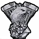 Eagle V-twin Embroidered Iron Sew on Biker Patch 11