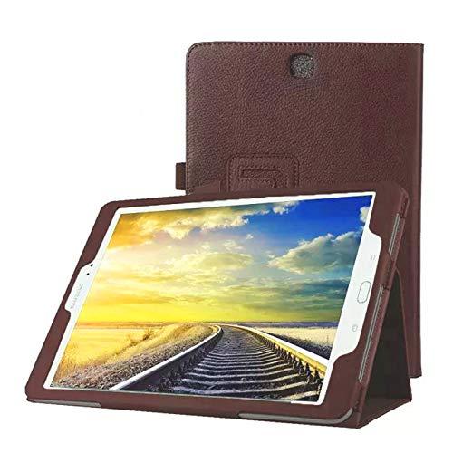 Tasche für Samsung Galaxy Tab A SM-T550 T551 T555 9.7 Zoll Schutz Hülle Flip Tablet Cover Case (Braun) NEU