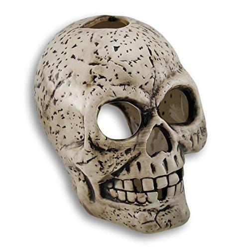 Grinning e denti mancanti ceramica Skull Tea light Holder