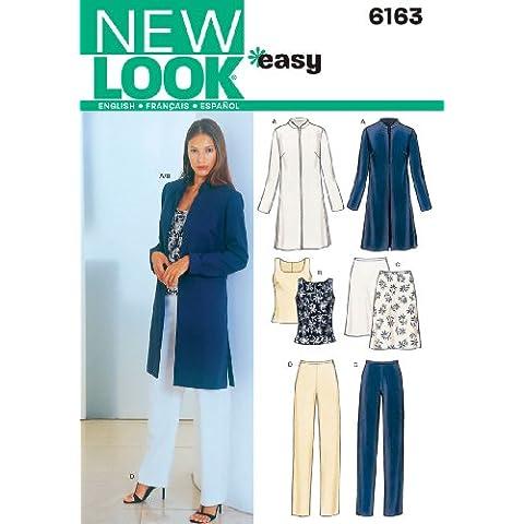 New Look 6163 - Cartamodello per completi