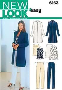 New Look NL6163 Patron de Couture Ensemble Veste + Haut + Pantalon 22 x 15 cm