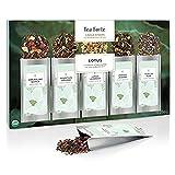 Teeset Lotus von Tea Forté zum Aufgießen, Teebox mit Verschiedenen Sorten Loser Teeblätter, für 15 Tassen - Schwarzer Tee, Oolong-Tee, Weißer Tee und Kräutertee