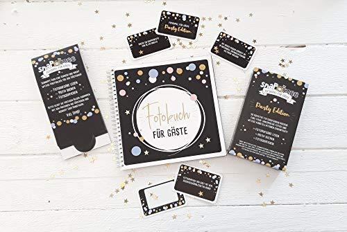 Fotospiel snaPmee Sparpaket Party mit Kartenbox, Fotobuch & 10 Tischaufstellern