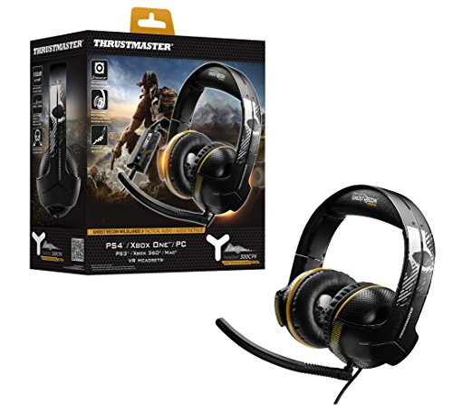 Thrustmaster Y-300CPX GHOST RECON WILDLANDS EDITION - Auriculares - Multiplataforma PS4/PS3/XboxOne/Xbox360/PC/VR - Cable 4m - almohadillas grandes y ultra suaves - Micrófono unidireccional, desmontable y ajustable
