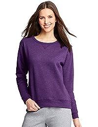 Hanes ComfortSoft EcoSmart Women's Crewneck Sweatshirt_Violet Splendor Htr_XL