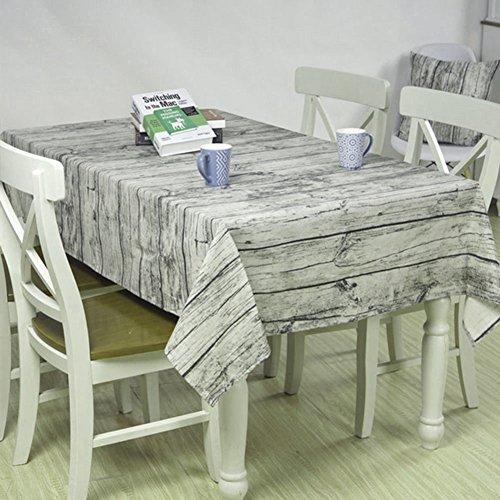 Retro mesa de comedor de tela suave de algodón y lino mantel de grano de grano de tela de polvo fotografía de fondo en el partido, Hotel, picnic 140 * 180cm