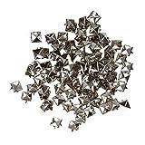 Fliyeong 100x Nieten, Silber Metall Pyramidenieten für Handschuhe/Schuhe/Tasche (8mm)