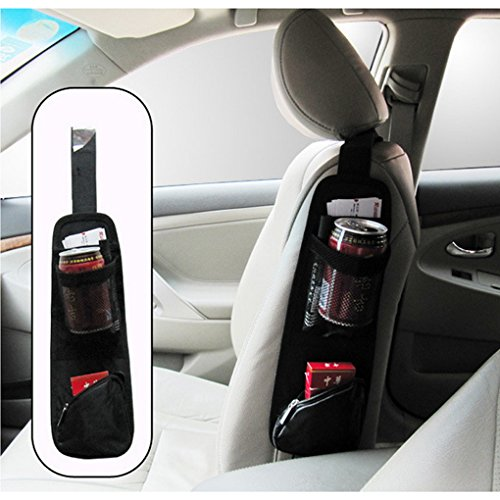 Preisvergleich Produktbild Yiizy Auto Car Seat Back Pouch Bag Multifunction Organizer Holder Car Side Surface Storage Bag Hanging Chair Travel Storage Bags Organizer (Black)