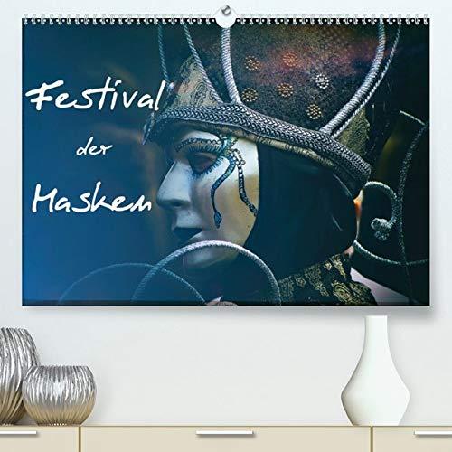 Reiseführer Kostüm - Festival der Masken(Premium, hochwertiger DIN A2 Wandkalender 2020, Kunstdruck in Hochglanz): Kunstvolle venezianische Masken (Monatskalender, 14 Seiten ) (CALVENDO Menschen)