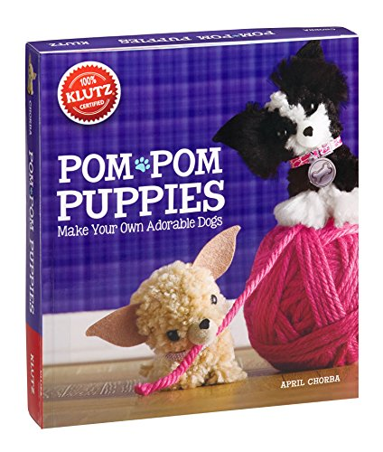 Pom Pom Puppies: Make Your Own Adorable Dogs [With Felt, Yarn, Bead Eyes, Styling Comb, Mini POM-Poms and Glue] (Klutz) - Kit Pom-pom Maker
