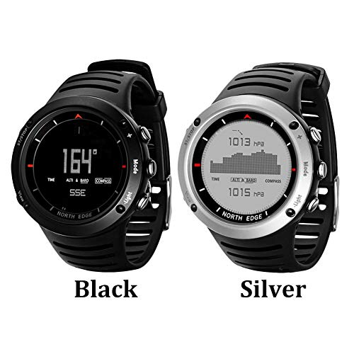 Lennonsi Relojes Deportivos Inteligentes Reloj Digital para Hombres Correr  natación Reloj Inteligente a Prueba de Agua Altímetro barómetro brújula ... eb82cd5aacb7