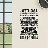 Décoration de maison d'autocollant mural de maison portugaise,décalcomaniesmurales de version portugaise75x45cm