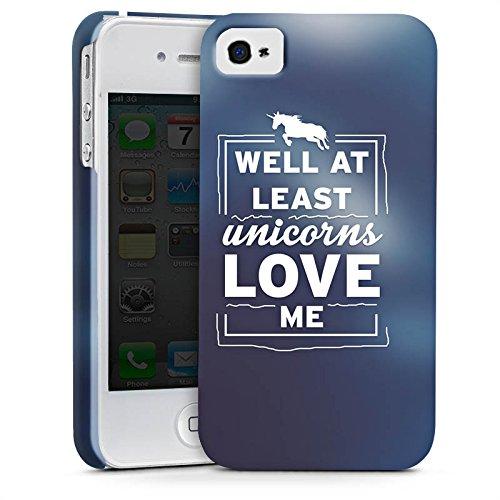 Apple iPhone X Silikon Hülle Case Schutzhülle Unicorn Einhorn Sprüche Premium Case glänzend