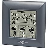 Technoline, WetterDirekt Wetterstation WD 4000 mit Innen-/ Außentemperaturanzeige, Wettervorhersage für 4 Tage und Wetterdaten für über 50 Regionen