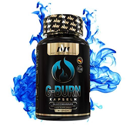 MVN® Glucomannan Kapseln, Appetitzügler, Abnehmen, 100% natürlich, Stoffwechsel - Gewichtsverlust - Diät optimiert von Experten - 90 Kapseln